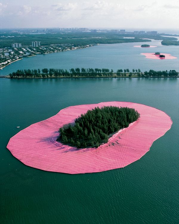 Christo Revisits Miami's Pink 'Surrounded Islands' From 1983