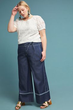 Pilcro Ultra High-Rise Wide-Leg Jeans