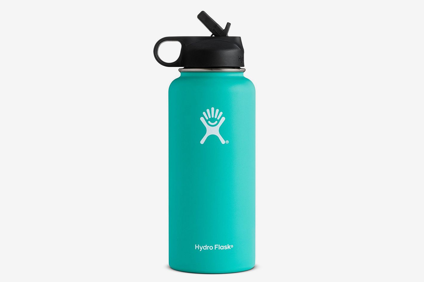 Hydro Flask Stainless Steel Sports Water Bottle, Wide Mouth With BPA Free Straw Lid