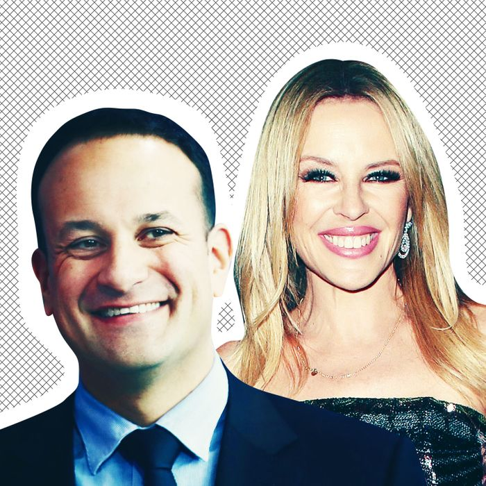 Leo Varadkar and Kylie Minogue.