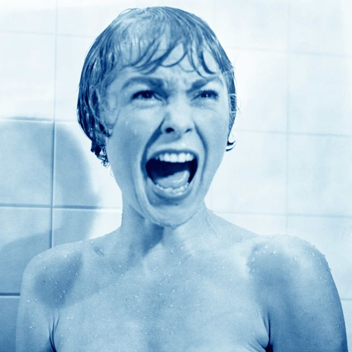 In the shower scene from the film Psycho, Marion Crane (played by Janet Leigh) screams in terror as Norman Bates tears open her shower curtain.