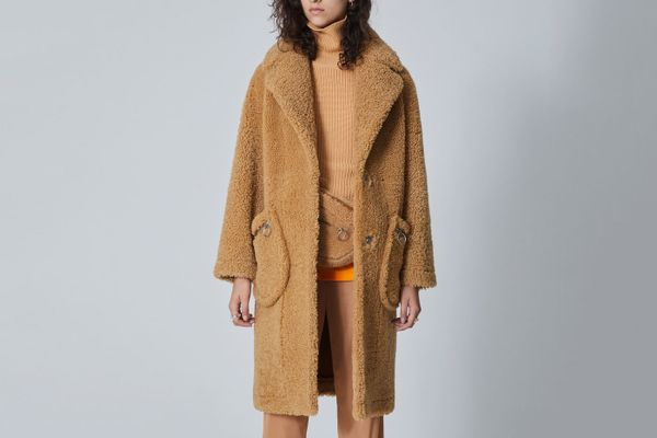 The Arrivals Koda Oversized Shearling Teddy Coat