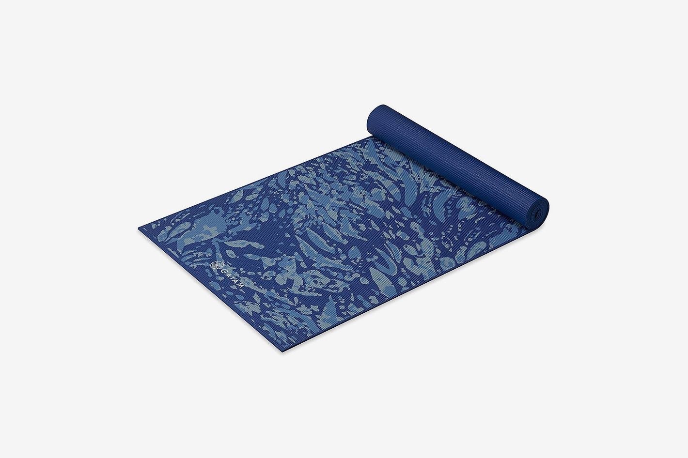 Gaiam 6mm Extra Thick Yoga Mat, Coastal Blue Pattern