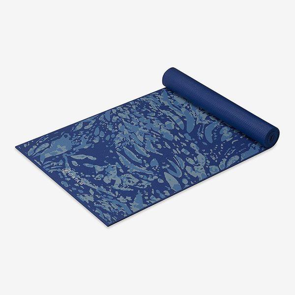 Tapis de yoga extra épais Gaiam 6 mm, motif bleu côtier