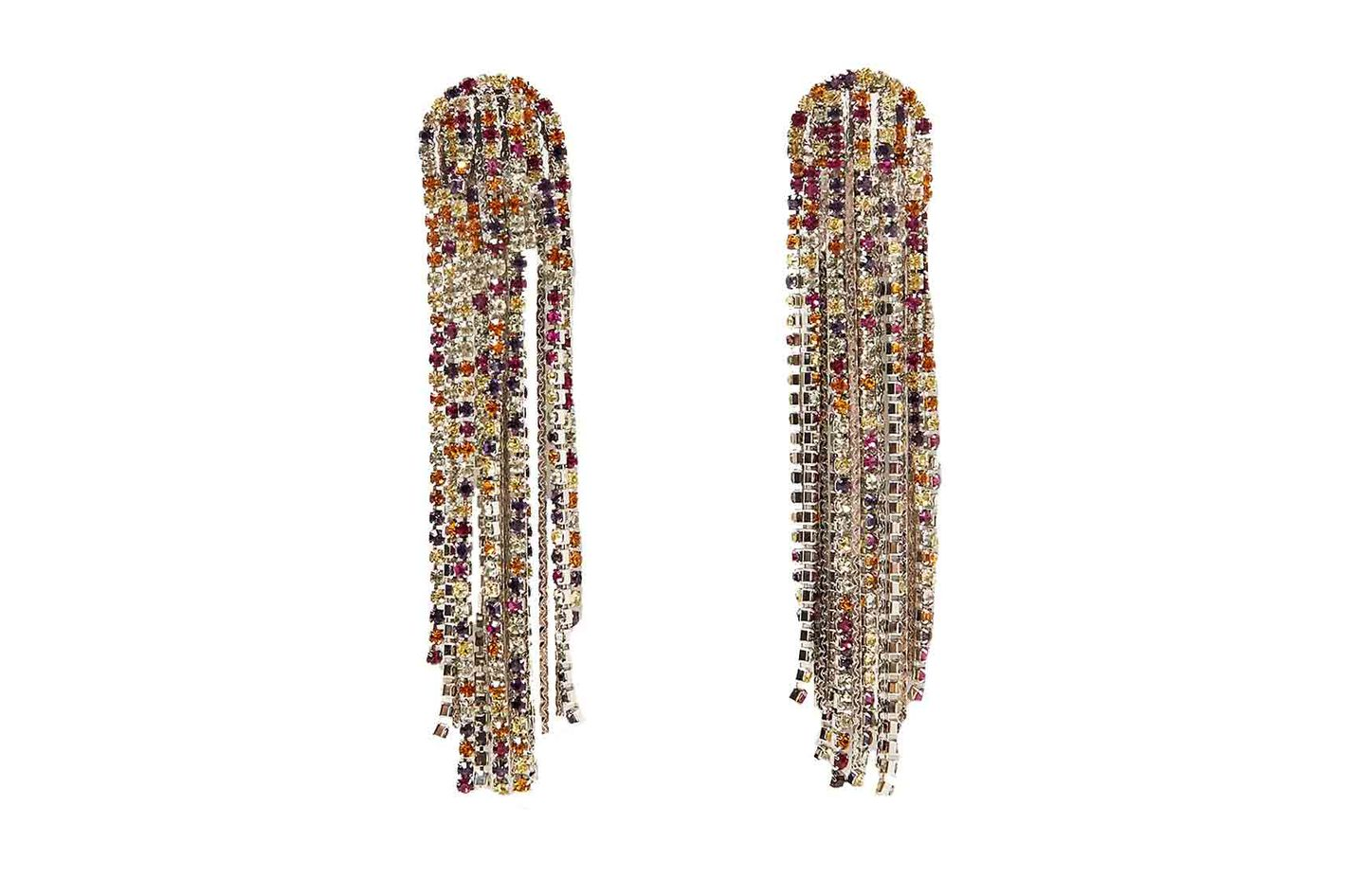 Zara long jewelled earrings