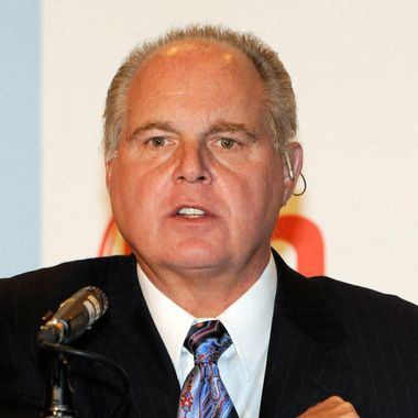 LAS VEGAS - JANUARY 27:  Radio talk show host and conservative commentator Rush Limbaugh, one of the judges for the 2010 Miss America Pageant, speaks during a news conference for judges at the Planet Hollywood Resort & Casino January 27, 2010 in Las Vegas, Nevada. The pageant will be held at the resort on January 30, 2010.  (Photo by Ethan Miller/Getty Images) *** Local Caption *** Rush Limbaugh