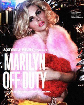 Andrej Pejic as Marilyn Monroe for Lovecat.