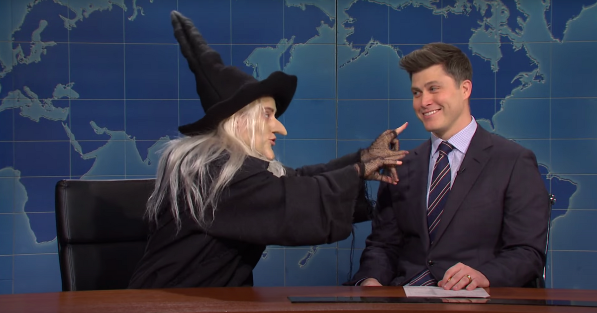 Kate McKinnon Is a Child-Eating QAnon Witch on Weekend Update - Vulture