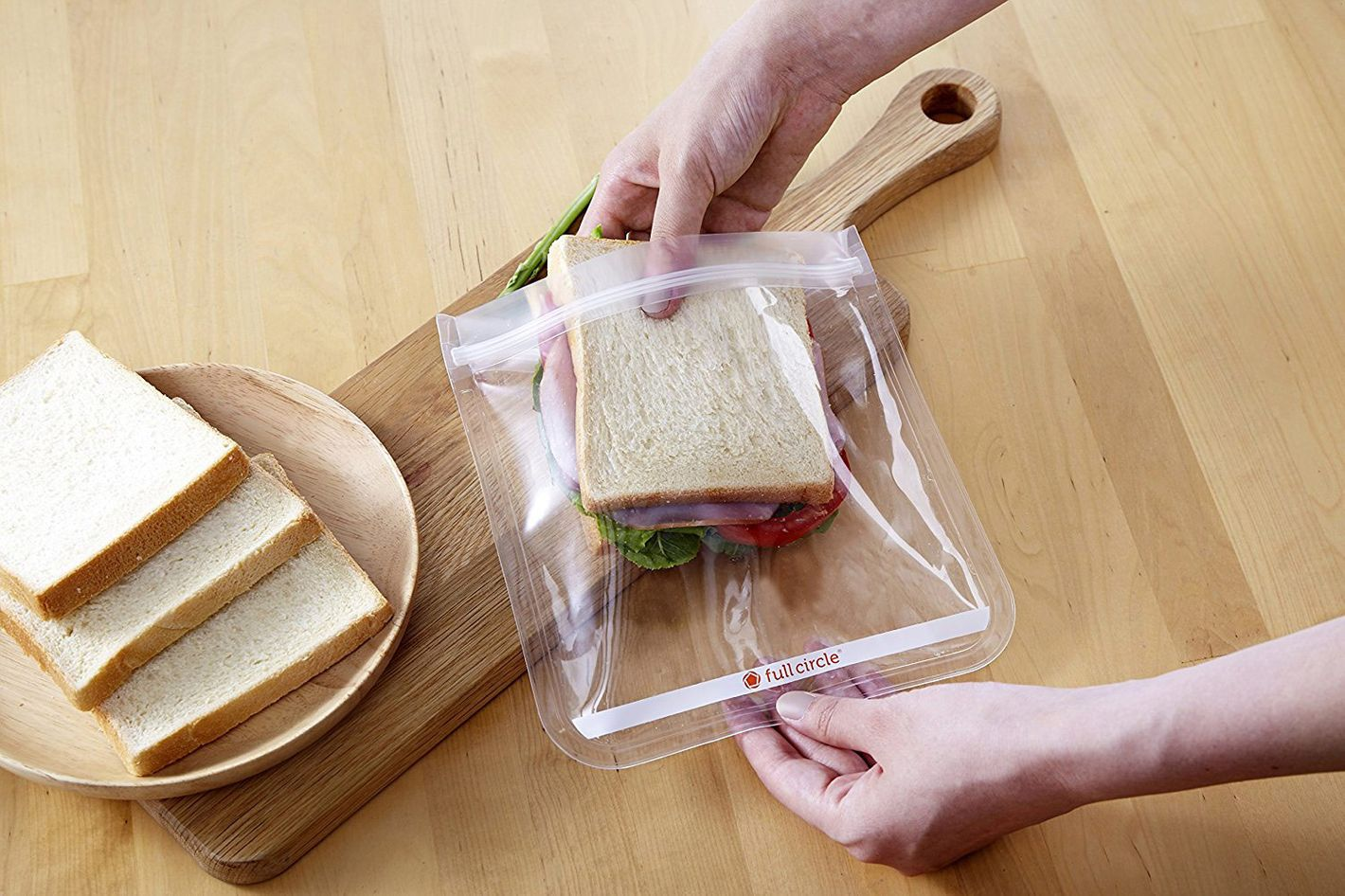 Full Circle Zip Tuck Sandwich Bags