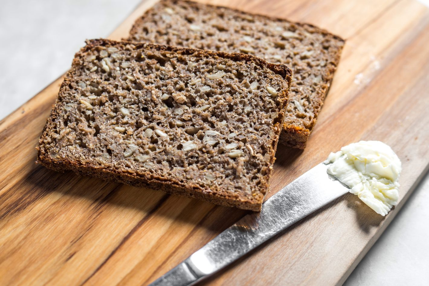 Rugbrød: traditional dense Danish rye bread made with 100 percent whole-grain rye, $7 or $12.