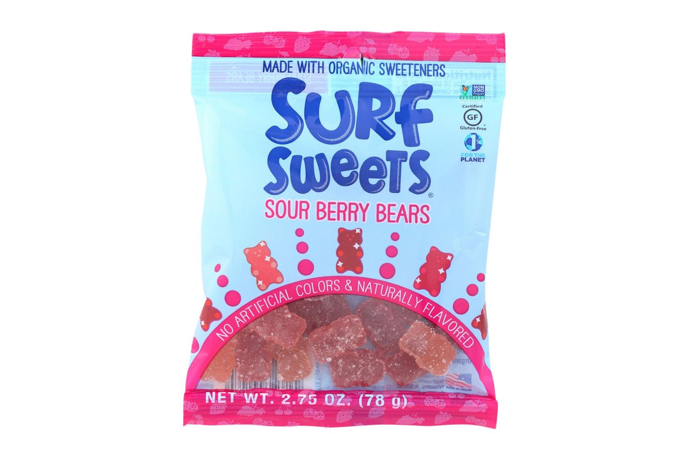 Surf Sweets Sour Berry Bears, 2.75-Ounce Bags
