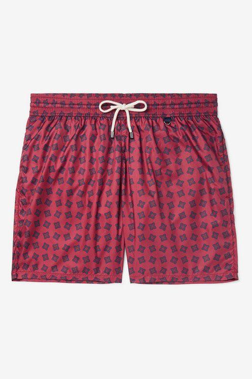 Rubinacci Mid-Length Printed Swim Shorts