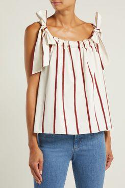 M.i.h. Jeans Blake Striped Cotton-blend Top