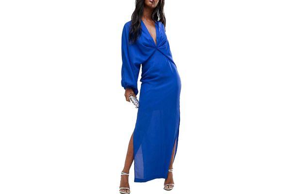 ASOS Balloon Sleeve Column Maxi Dress