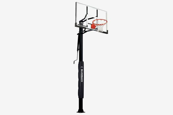 """Silverback 54"""" In-Ground Basketball Hoop With Adjustable-Height Tempered-Glass Backboard"""