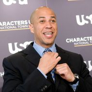 WASHINGTON - DECEMBER 02: Mayor Cory Booker of Newark, New Jersey poses for photographers before the Characters Unite National Town Hall at the NEWSEUM on December 2, 2009 in Washington, DC. (Photo by Kris Connor/Getty Images) *** Local Caption *** Cory Booker