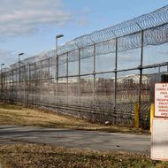 The entrance to the now-closed Arthur Kill Correctional Facility is shown on Staten Island in New York, Tuesday, Jan. 3, 2012.  The correctional center is the seventh prison, camp, or work release facility shuttered in 2011 as New York transferred about 2,600 inmates and 1,400 staff to its 60 remaining penal units in an effort to save millions of dollars and remove excess capacity.