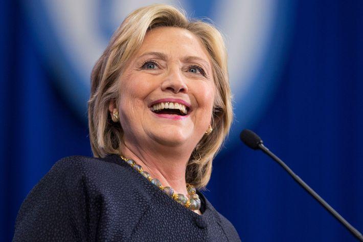 Girl-power enthusiast Hillary Clinton.