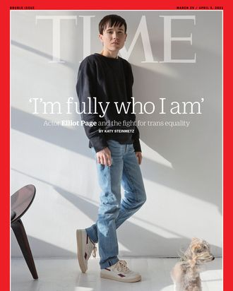 Elliot Page on Time Magazine's March/April cover.