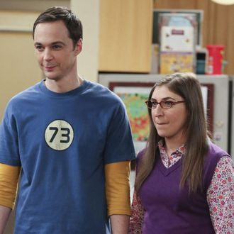 Does penny ever hook up with sheldon