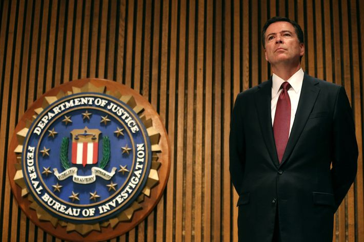 FBI Director James Comey participates in a news conference on child sex trafficking, at FBI headquarters, June 23, 2014 in Washington, DC. Director Comey said that 168 juveniles have been recovered in a nationwide operation targeting commercial child sex trafficking.