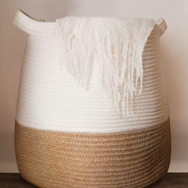 Large Woven Rope Basket