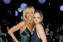 Singer Rihanna (L) and designer Stella McCartney attend a cocktail reception at the Stella McCartney Special Presentation during London Fashion Week Autumn/Winter 2012 a One Mayfair on February 18, 2012 in London, England.