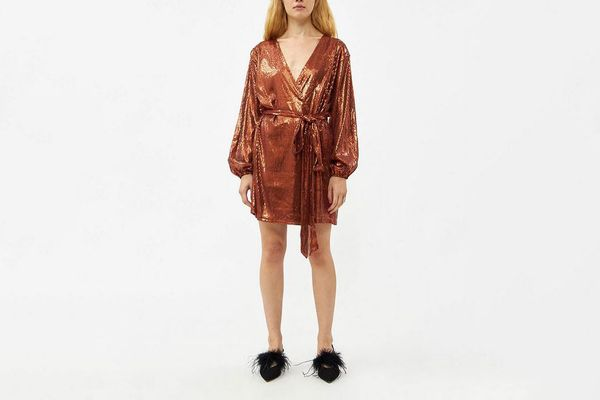 Stelen Ellenor Sequin Wrap Mini Dress