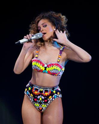 Rihanna in concert.