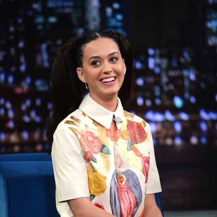 NEW YORK, NY - OCTOBER 10: Katy Perry visits
