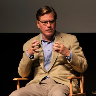 Screenwriter Aaron Sorkin speaks onstage during Tribeca Talks: Future of Film: A Conversation with Aaron Sorkin during the 2014 Tribeca Film Festival at the SVA Theater on April 21, 2014 in New York City.