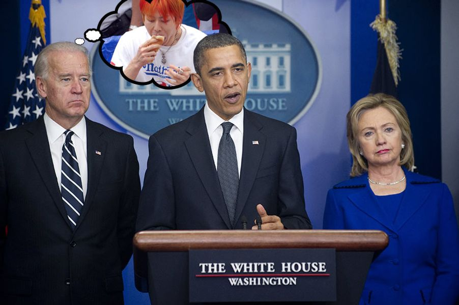 US President Barack Obama speaks about the US strategy for military and civilian operations in Afghanistan and Pakistan following a two-month review process of the nine-year war, in the Brady Press Briefing Room at the White House in Washington, DC, on December 16, 2010. Alongside Obama are: US Secretary of State Hillary Clinton; and US Vice President Joe Biden. AFP PHOTO / Saul LOEB (Photo credit should read SAUL LOEB/AFP/Getty Images)