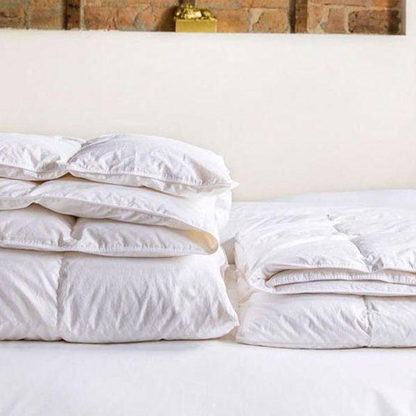 white brooklinen down alternative comforter