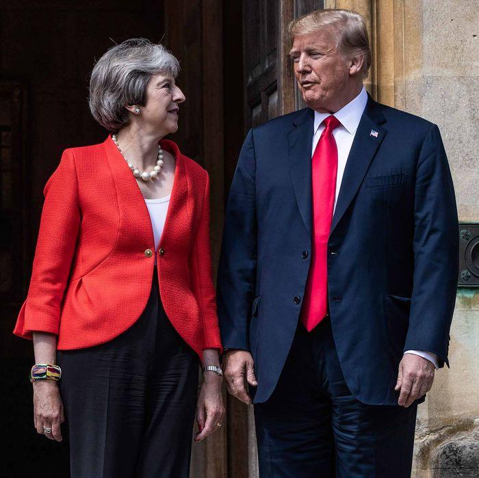 Theresa May and Donald Trump.