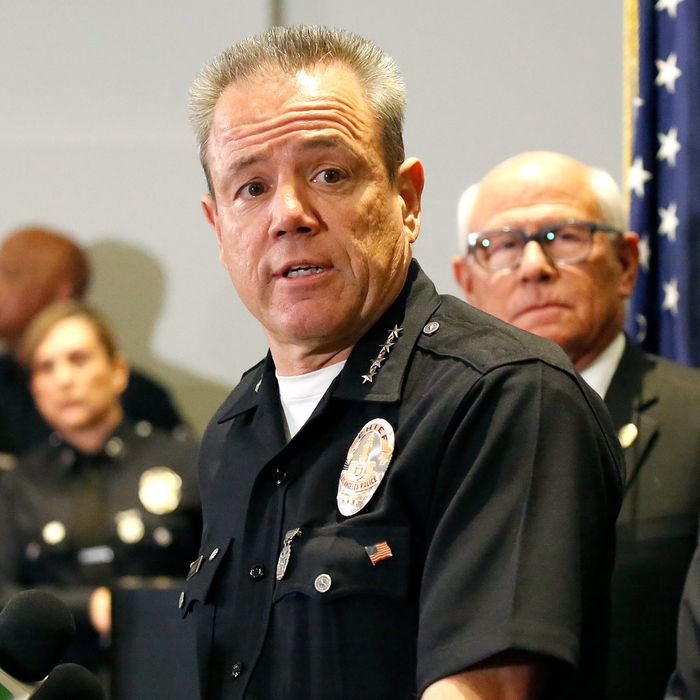 LAPD Chief Michel Moore.