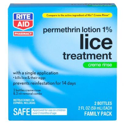 Rite Aid Permethrin Lotion 1% Lice Treatment Family Pack