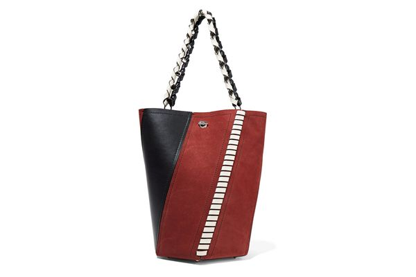 PROENZA SCHOULER Hex paneled leather and suede tote