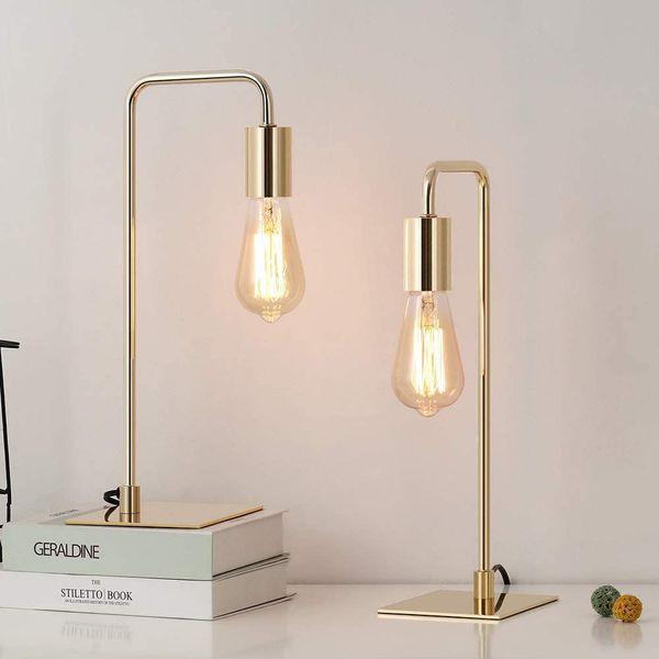 JS Nova Juns Gold Desk Lamp
