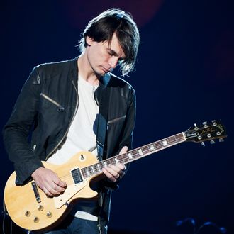 Jonny Greenwood performs on stage on Day 4 of Open'er Festival 2013 on July 6, 2013 in Gdynia, Poland.