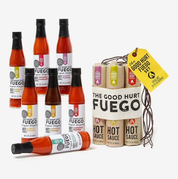 Thoughtfully Gifts, The Good Hurt Fuego: A Hot Sauce Gift Set for Hot Sauce Lover's