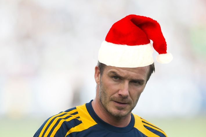 David Beckham, Santa baby.