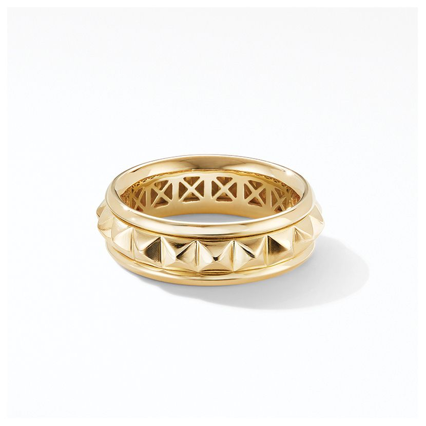 Modern Renaissance Pyramid Ring in 18K Yellow Gold