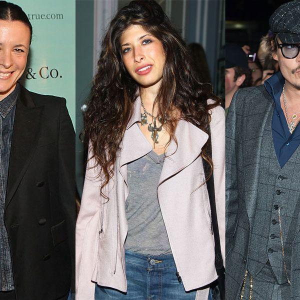 Garance Doré, Pamela Love, and Mr. Depp, himself.
