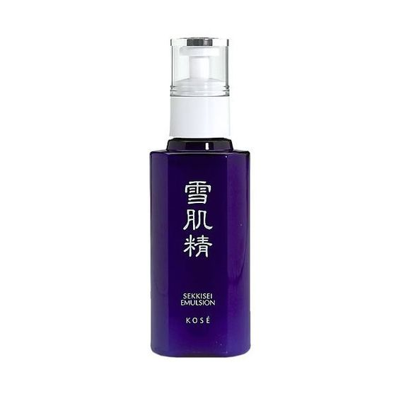 "Like the Japanese equivalent of Embryolisse, there's a rumor that every person in Japan has had this shining navy blue bottle on her nightstand at one time or another. At $40, it's not exactly cheap, but it signifies how seriously the Japanese take their skin-care if <a href=""http://www.amazon.com/Kose-Sekkisei-Emulsion-Facial-Moisturizer-Fluid/dp/B0007601RO"">Sekkisei Emulsion</a> is sold at their drugstores. This moisturizer has a milky emulsion texture favored by Asian skincare brands for its light, airy texture that quickly melts into skin. Its lightness comes from five botanical extracts that soothe the skin and lighten age and sun spots. In Japan, it's used in the winter as a serum. In the summer, it's used alone as a light moisturizer."