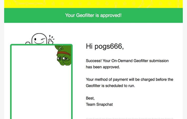 Snapchat Now Lets People Buy Custom Geofilters, So I Bought a Really Stupid One
