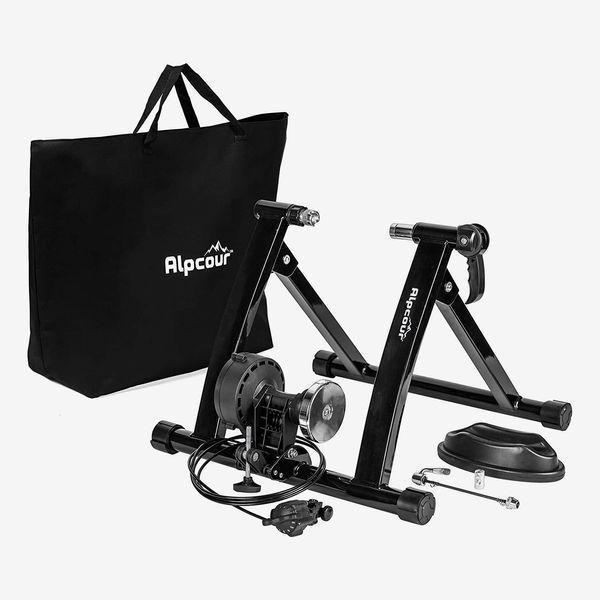 Alpcour Portable Stainless Steel Indoor Trainer with Magnetic Flywheel