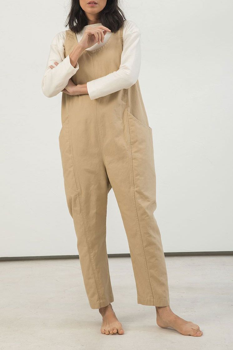 Elizabeth Suzann Clyde Jumpsuit in Cotton Canvas