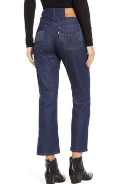levis high waist wedgie cropped straight leg jeans - strategist nordstrom half yearly sale best deals