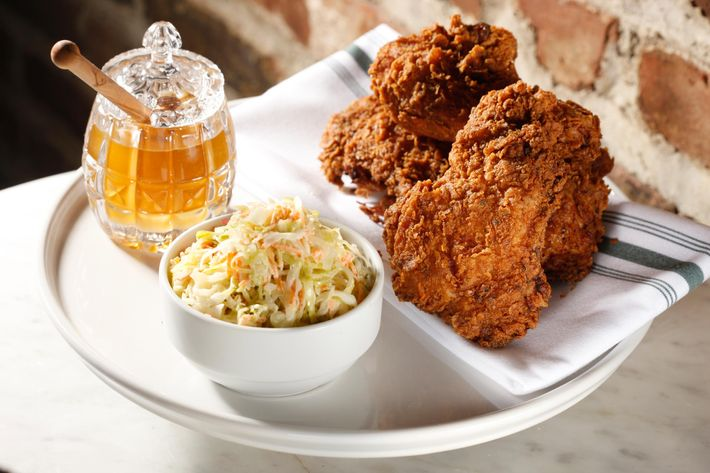 Spicy fried chicken.