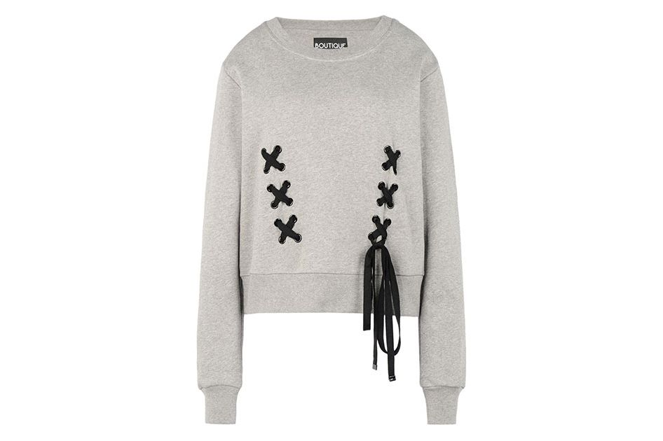 Boutique Moschino lace-up sweatshirt